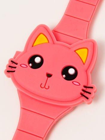 CAT Zamykany Ozdobny Brzoskwiniowy Zegarek Kot