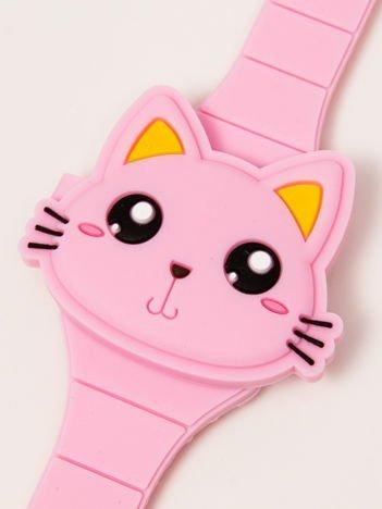 CAT Zamykany Ozdobny Jasnoróżowy Zegarek Kot