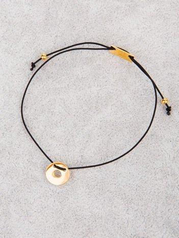 CELEBRTYTKA czarna damska bransoletka z najlepszej jakości STALI CHIRURGICZNEJ 316L