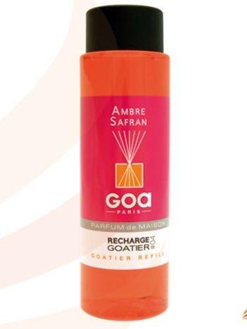 CLEM-GOA Zapas do dyfuzora zapachowego  250 ml - Ambra z szafranem