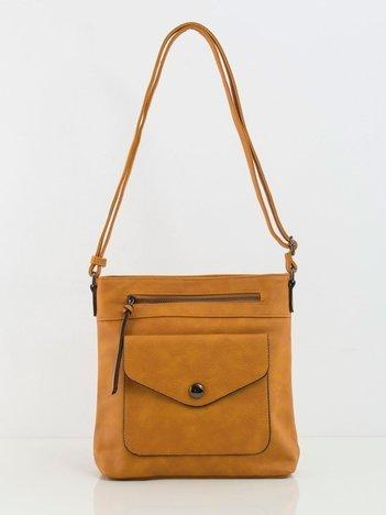 Camelowa mała torebka