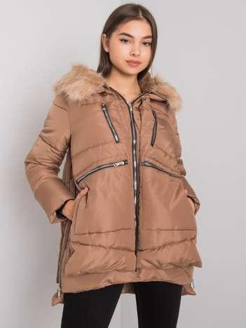 Camelowa pikowana kurtka zimowa Estherville