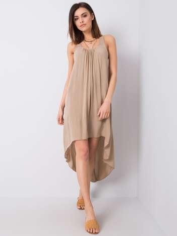Camelowa sukienka Demmi OCH BELLA