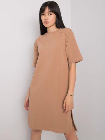Camelowa sukienka na co dzień Mistee RUE PARIS