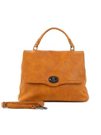 Camelowa torba damska z uchwytem