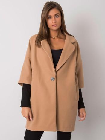 Camelowy luźny płaszcz Aliz RUE PARIS