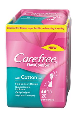 Carefree Flexi Comfort Cotton Feel Wkładki higieniczne 20 szt.
