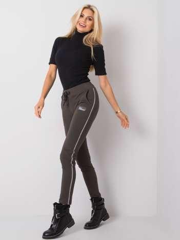 Ciemne khaki spodnie Blanca