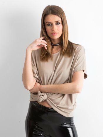 Ciemnobeżowa bluzka Oversize