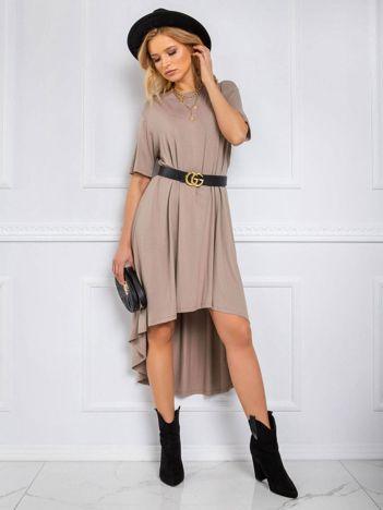 Ciemnobeżowa sukienka Casandra RUE PARIS