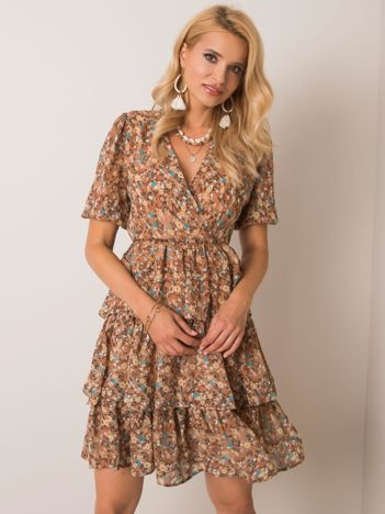 Ciemnobeżowa sukienka Margarita RUE PARIS