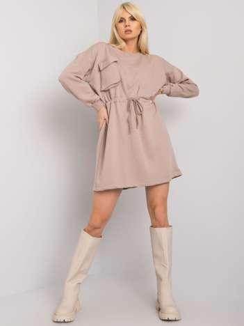 Ciemnobeżowa sukienka oversize Kelbi RUE PARIS