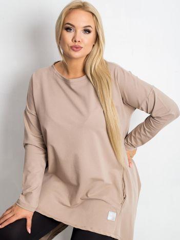 Ciemnobeżowa tunika plus size Andrea