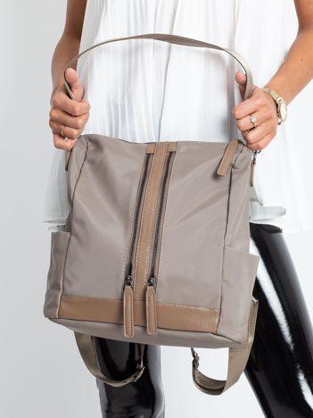 Ciemnobeżowy miękki plecak torba