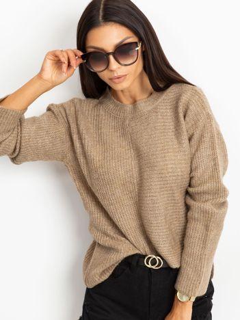 Ciemnobeżowy sweter Sunset