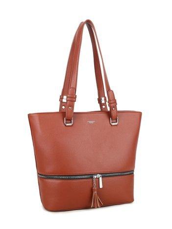 Ciemnobrązowa torba na ramię LUIGISANTO