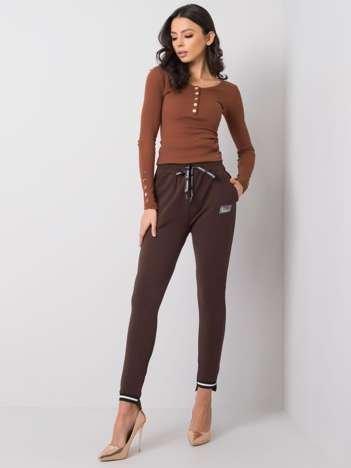 Ciemnobrązowe spodnie Luciana