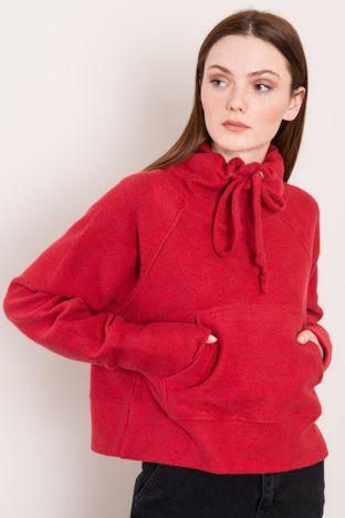 Ciemnoczerwona bluza z kieszenią BSL