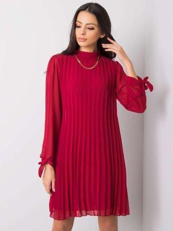Ciemnoczerwona sukienka Manola SUBLEVEL