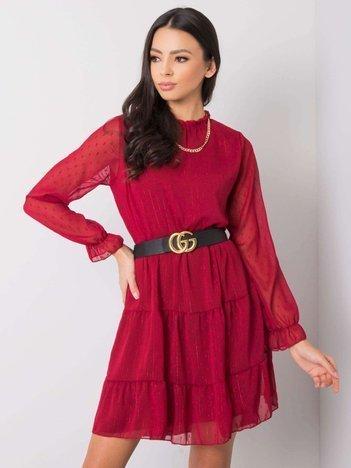 Ciemnoczerwona sukienka Marguerita SUBLEVEL