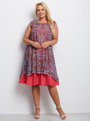 Ciemnoczerwona sukienka plus size Sacramento