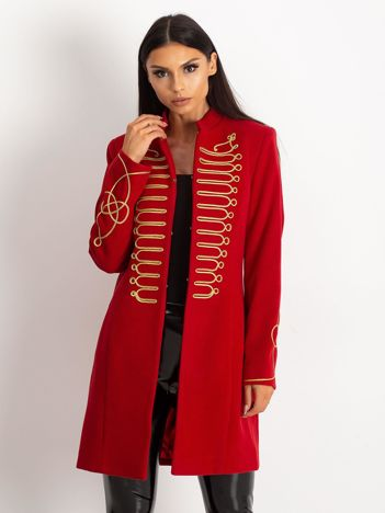 Ciemnoczerwony płaszcz Rebel
