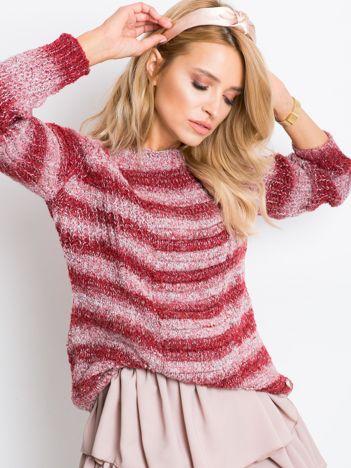 Ciemnoczerwony sweter Here