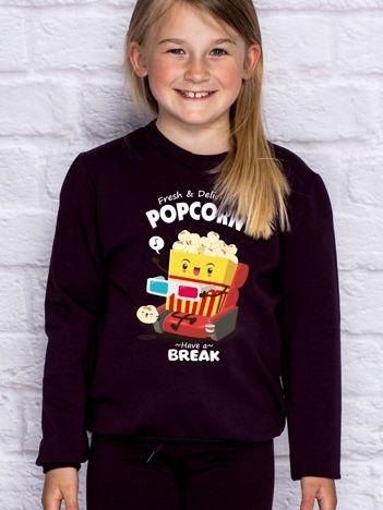 Ciemnofioletowa bluza dziecięca POPCORN
