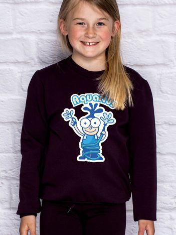Ciemnofioletowa bluza dziecięca znak zodiaku WODNIK
