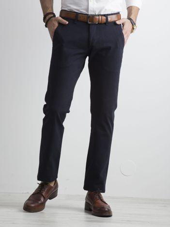 Ciemnogranatowe spodnie męskie regular
