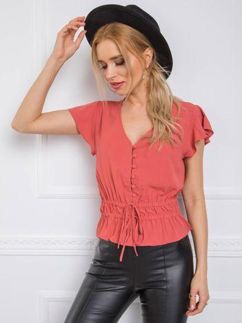 Ciemnokoralowa bluzka Shirley RUE PARIS