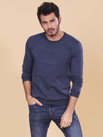 Ciemnoniebieska bluza męska bez kaptura