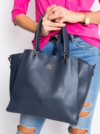 Ciemnoniebieska damska torba z ekoskóry