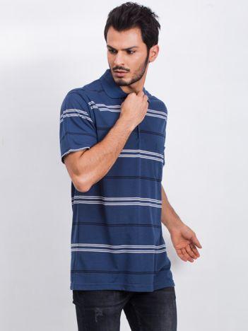 Ciemnoniebieska koszulka polo męska Effectual