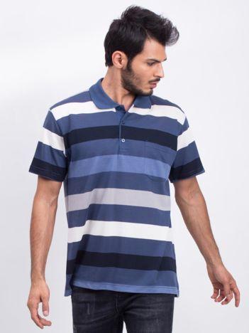 Ciemnoniebieska męska koszulka polo Easier