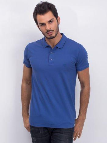 Ciemnoniebieska męska koszulka polo Fleetwood