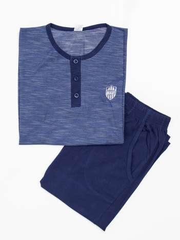 Ciemnoniebieska piżama męska