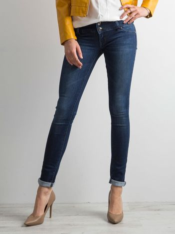 Ciemnoniebieski jeansowe rurki