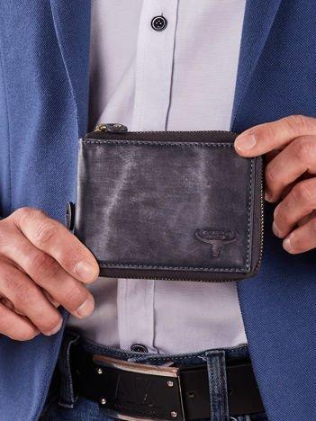 Ciemnoniebieski męski portfel poziomy