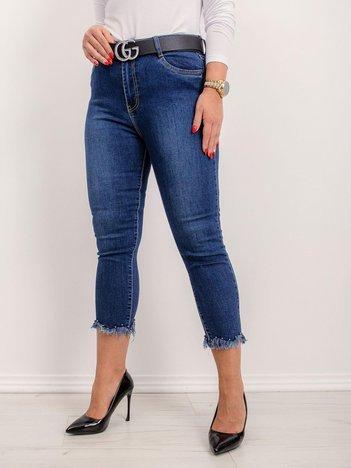 Ciemnoniebieskie jeansy plus size Miranda
