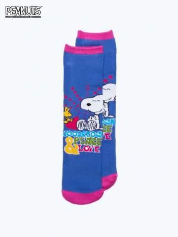 Ciemnoniebieskie skarpetki dla dziewczynki SNOOPY