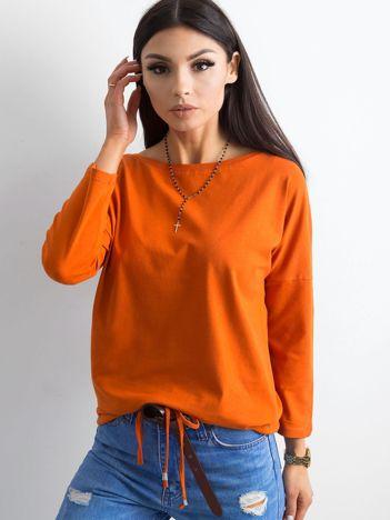 Ciemnopomarańczowa bluzka z bawełny