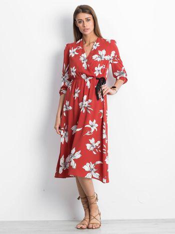 Ciemnopomarańczowa sukienka Distinctive