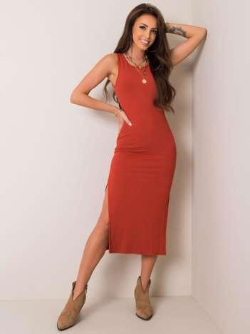 Ciemnopomarańczowa sukienka Julietta RUE PARIS