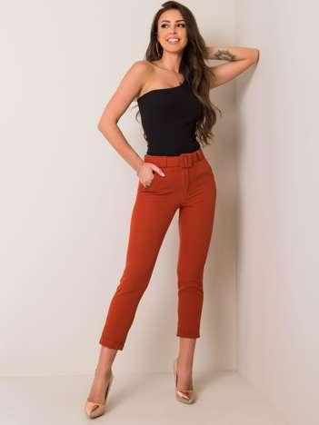 Ciemnopomarańczowe spodnie Melissa
