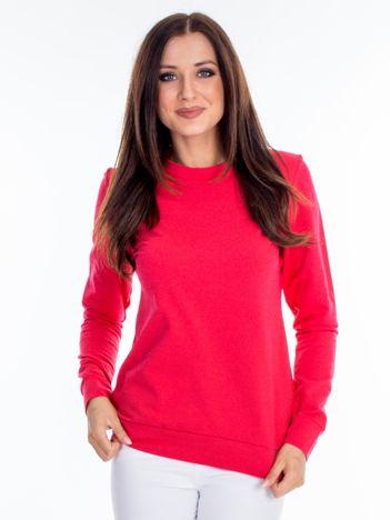 Ciemnoróżowa bluza damska basic