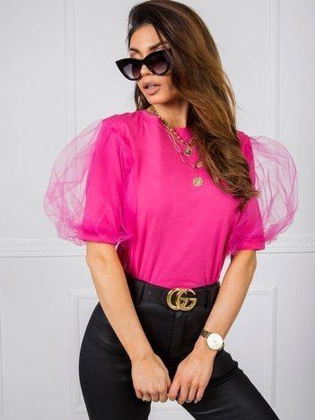Ciemnoróżowa bluzka Hannah
