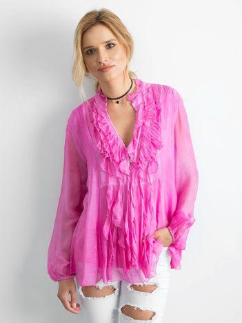 Ciemnoróżowa zwiewna bluzka