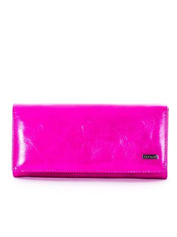 Ciemnoróżowy portfel damski