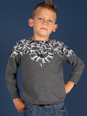 Ciemnoszara bluza dla chłopca z nadrukiem